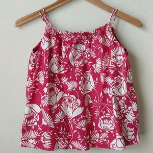 GapKids Red and White Floral Camisole, 12